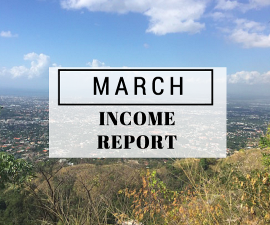 March 2016 Income report