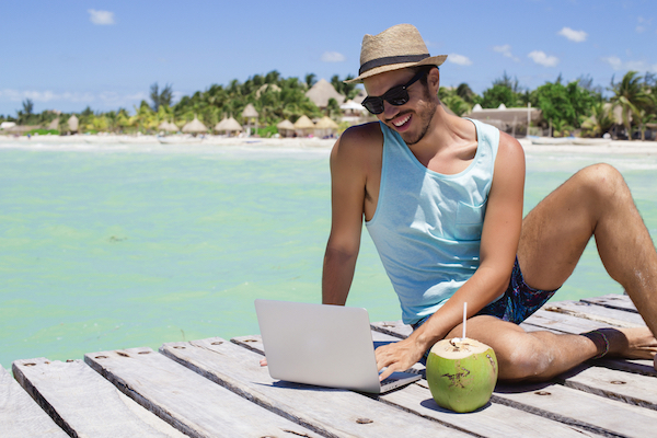 Digital nomad - Make money while travelling around the world.