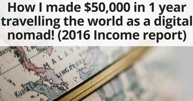 2016 travel Income report